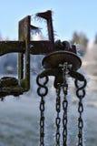 Vecchio peso congelato Immagine Stock
