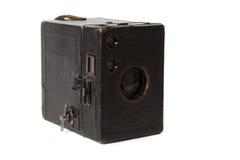 Vecchio photocamera isolato su bianco Fotografia Stock