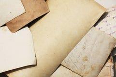 Vecchio Photoes e lettere immagini stock