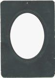 Vecchio photoframe dell'annata con la scenetta ovale fotografie stock libere da diritti