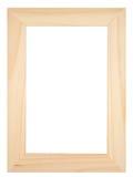 Vecchio photoframe di legno Fotografie Stock