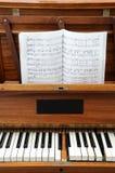 Vecchio piano Fotografie Stock Libere da Diritti