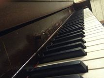 Vecchio piano Fotografia Stock
