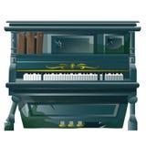 Vecchio pianoforte a coda rotto con i fori di pallottola royalty illustrazione gratis