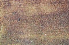 Vecchio piatto d'acciaio arrugginito ruvido Fotografie Stock