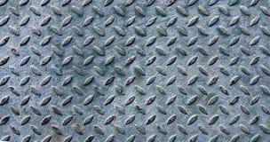 Vecchio piatto del diamante del metallo coperto di pittura Immagini Stock Libere da Diritti