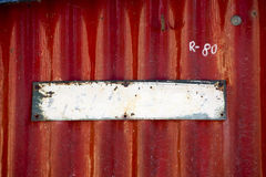 Vecchio piatto metallico dipinto vuoto Fotografie Stock