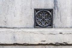 Vecchio piatto storico della decorazione della parete in signore, Fiandre, Belgio Fotografia Stock