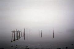 Vecchio pilastro della spiaggia Immagine Stock
