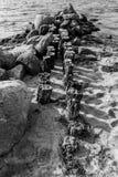 Vecchio pilastro di decomposizione Immagini Stock Libere da Diritti