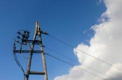 Vecchio pilone di elettricità Fotografie Stock Libere da Diritti