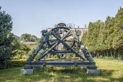 Vecchio planetarium nell'osservatorio antico Fotografie Stock