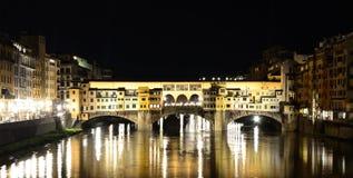 Vecchio Ponte (старый мост), firenze стоковое изображение