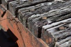 Vecchio ponte arrugginito Fotografia Stock