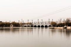 Vecchio ponte Cina fotografia stock