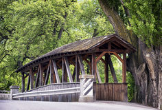 Vecchio ponte coperto immagine stock libera da diritti