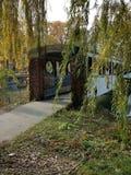 Vecchio ponte coperto su Belle Isle, Detroit Michigan immagine stock libera da diritti