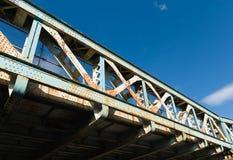 Vecchio ponte d'acciaio Fotografia Stock Libera da Diritti