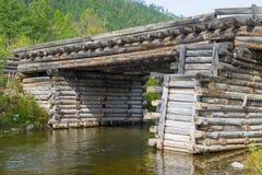 Vecchio ponte dei ceppi Fotografia Stock Libera da Diritti
