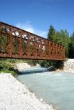 Vecchio ponte del metallo Fotografie Stock