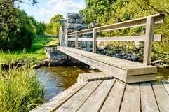 Vecchio ponte del passaggio pedonale fotografia stock libera da diritti