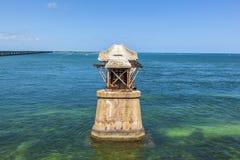 Vecchio ponte della ferrovia sulla Bahia Fotografia Stock Libera da Diritti