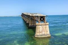 Vecchio ponte della ferrovia sulla Bahia Immagine Stock