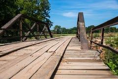 Vecchio ponte della Legno-plancia Fotografia Stock Libera da Diritti