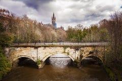 Vecchio ponte della passeggiata di Glasgow Immagine Stock