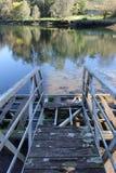 Vecchio ponte di barca a Pontevedra fotografie stock libere da diritti
