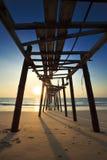 Il vecchio ponte di legno Immagini Stock Libere da Diritti