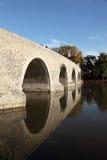 Vecchio ponte di pietra in Wetzlar, Germania immagine stock