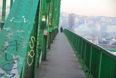 Vecchio ponte di Sava a Belgrado Immagini Stock Libere da Diritti