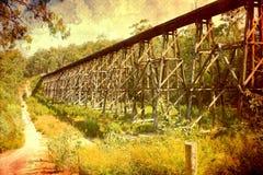 Vecchio ponte ferroviario Fotografia Stock