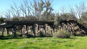 Vecchio ponte ferroviario Fotografie Stock