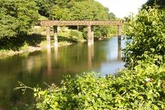Vecchio ponte ferroviario, Redbrook. Fotografie Stock Libere da Diritti