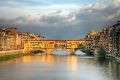 vecchio ponte florence Италии Стоковая Фотография