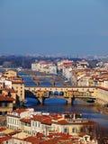 vecchio ponte florence Италии Стоковое фото RF