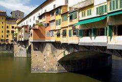 vecchio ponte florence Италии стоковое фото
