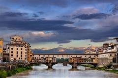 vecchio ponte florence Италии Стоковая Фотография RF