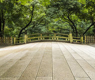 Vecchio ponte giapponese Fotografie Stock