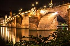 Vecchio ponte, Heidelberg Fotografia Stock Libera da Diritti