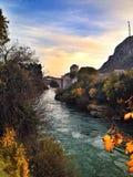Vecchio ponte Mostar Fotografie Stock
