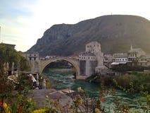Vecchio ponte Mostar Fotografia Stock