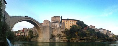 Vecchio ponte Mostar Fotografia Stock Libera da Diritti
