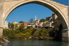 Vecchio ponte Mostar Immagini Stock