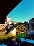 Vecchio ponte nella città di Mostar Fotografia Stock Libera da Diritti
