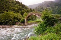 Vecchio ponte a Rize Fotografia Stock Libera da Diritti