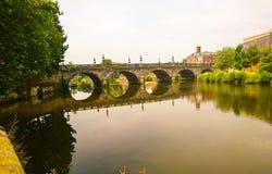 Vecchio ponte in Shrewsbury Fotografia Stock