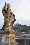 Vecchio ponte a Wurzburg Immagini Stock Libere da Diritti